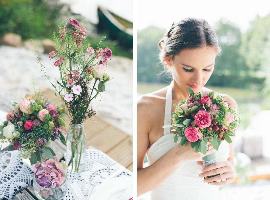 Vintage Hochzeitsblumen