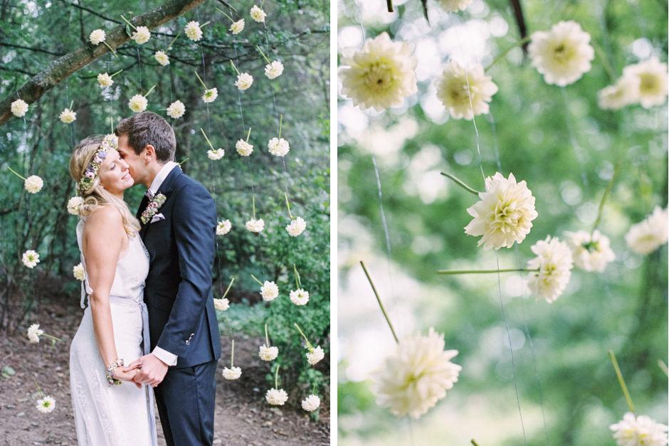 Hochzeitsblumen Dekoration Blütenvorhang