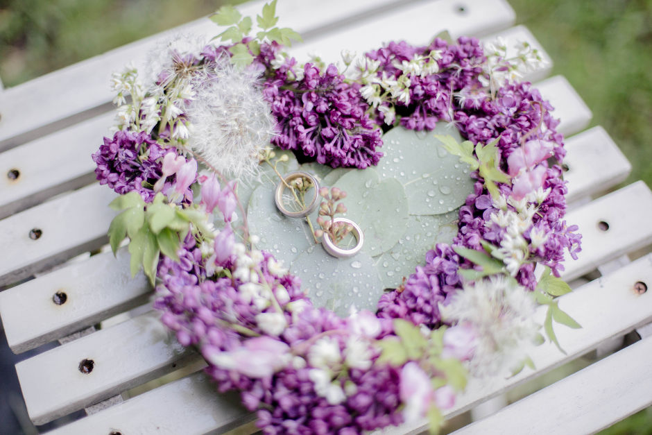 Blumen Ringkissen