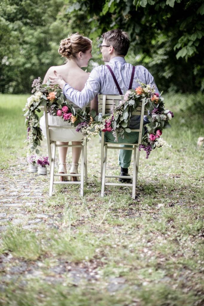 Blüten Girlande