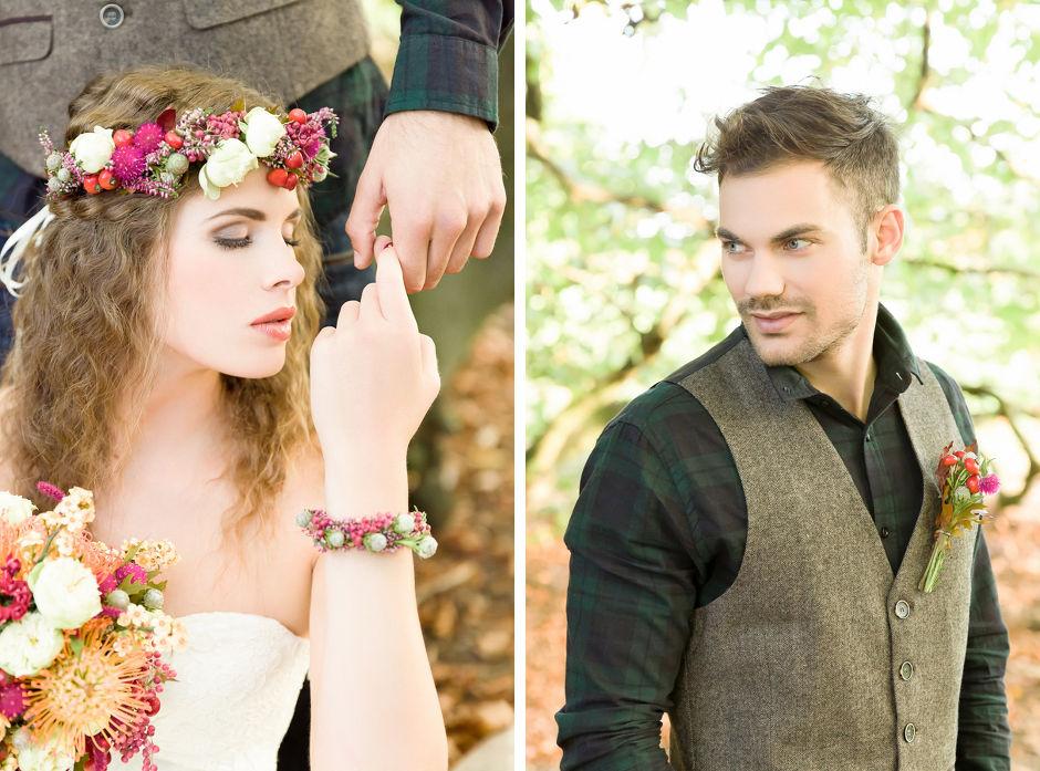 Blumen Armband