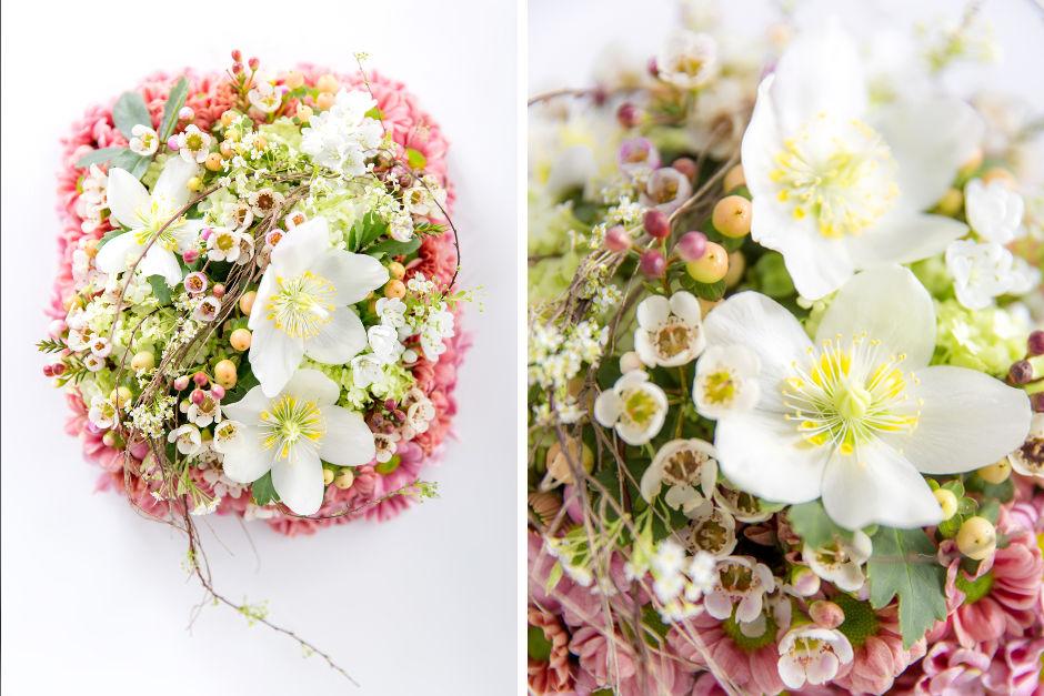 Blütenkissen, Blumen Ringkissen Hannover
