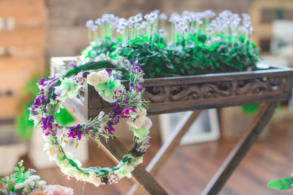 Kunstblumen Haarkranz, Hochzeit