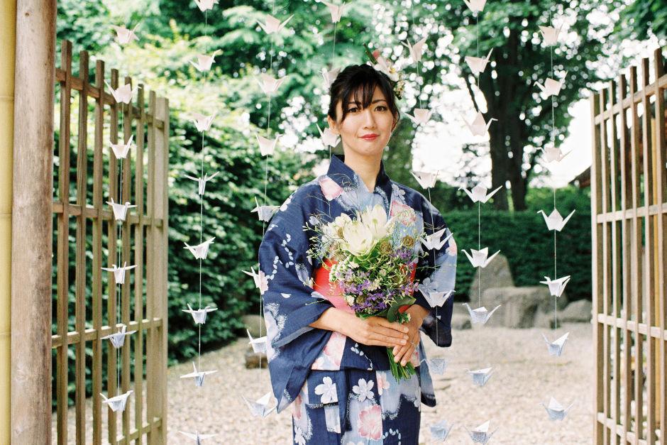 Japanische Blumensträuße Hochzeit