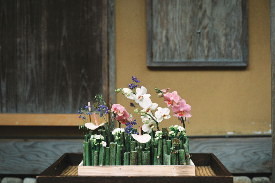 Japanische Blumendekoration Hochzeit